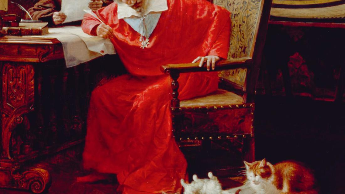 Richelieu amoureux chats